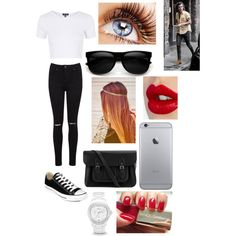 Date with Hazz by zishahoralik on Polyvore featuring polyvore, fashion, style, Topshop, Miss Selfridge, Converse, The Cambridge Satchel Company, FOSSIL, Charlotte Tilbury and Dolce&Gabbana