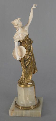 963: Oskar Gladenbeck (German, 1850-1921), ivory, gilt : Lot 963