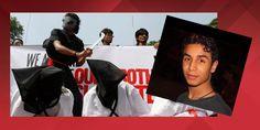 Ein Protest in Bangladesch gegen Saudi-Arabiens Enthauptung Politik (Foto: Reuters);  Einschub: Ali Mohammed al-Nimr