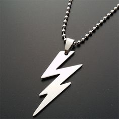 >> Click to Buy << ER 2016 New Arrival Power Thunder Lightning Bolt Pendant Necklace Mens Biker Stainless Steel Jewelry Creative Gift PN011 #Affiliate