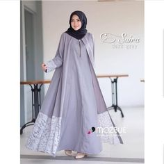 Modern Fashion Lace Open Abaya with Hijab Fashion for Muslim Ladies – Girls Hijab Style & Hijab Fashion Ideas Hijab Style Dress, Hijab Gown, Muslim Women Fashion, Islamic Fashion, Abaya Fashion, Fashion Outfits, Dress Fashion, Moslem Fashion, Modele Hijab