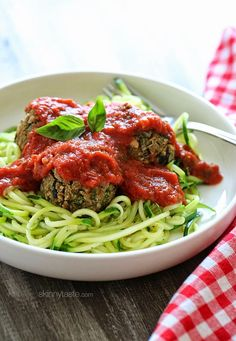 Vegan Eggplant Meatballs and Marinara| Skinnytaste 6 points plus for 3 meat balls and 1/2 cup sauce