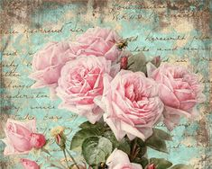 Shabby chic floral illustration