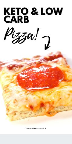 TASTY! This homemade diy recipe idea for easy keto low carb pizza is so yummy! Make this great tasting meal idea for lunch, dinner, snacks, parties, gatherings, birthdays, or any time! Carbohydrate Counter, Low Carbohydrate Diet, Low Carb Recipes, Diabetic Recipes, Easy Recipes, Best Homemade Pizza, Low Carb Pizza, Diy Recipe, What To Cook