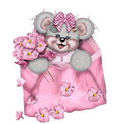 tutto glitter: busta con orsetta