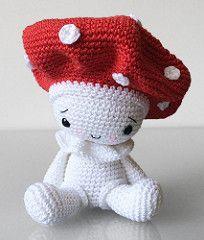 Amigurumi Amanita the Mushroom (Pepika) Tags: mushroom pattern crochet pdf…