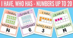 I Have, Who Has Ten Frames up to 20 Game - Easy Peasy Learners Game Cards, Card Games, Addition Chart, Ten Frames, Easy Peasy, Maths, Mathematics, Numbers, Teaching