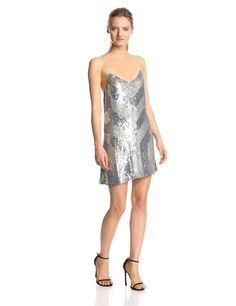 Catalan Chevron Sequin Slip Dress by Parker