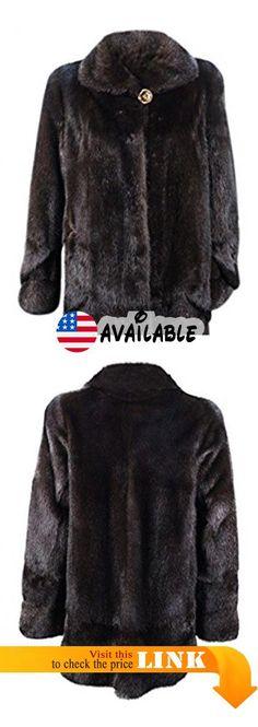 1c5e43d660e8c B00N9U0NMS : New Women's Natural Mahogany Mink Fur Stroller w/ Bell Sleeves  14 Brown.