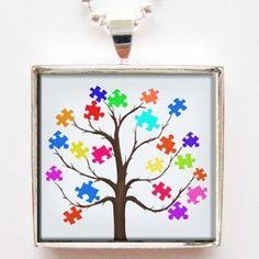 Puzzle Pieces Tree Autism Awareness Ribbon Glass Tile Pendant Necklace with Chain Classic Art Jewelry, http://www.amazon.com/dp/B00953BQV0/ref=cm_sw_r_pi_dp_3j70qb1WK885R