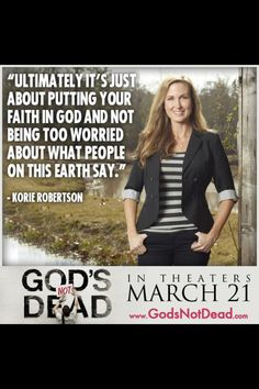 God's not dead! And it takes crazy faith to believe but I promise it will be okay if you do.