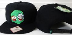 Rick and Morty Adult Swim Cartoon Snap Back Black Hat Nwt #RickandMorty #BaseballCap