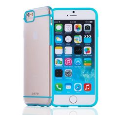 "JOTO iPhone 6 4.7 Case - Slim Fit Hybrid Bumper Cover Case (Flexible TPU + Hard PC) Exclusive for Apple iPhone 6 4.7"" (2014) (Blue, Frosty, Clear):Amazon:Cell Phones & Accessories"