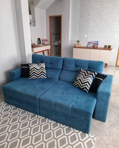 Sofa, Couch, 30, Furniture, Home Decor, Navy Blue Couches, Gray Sofa, Colorful Pillows, Investing
