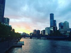 One #sunset in #melbourne #city #beautywater #charmingplace #yarrarivermelbourne