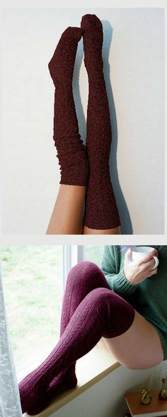 Beautiful dark red, wine color thigh high knit socks. I love them! #commissionlink #knit #socks #thighhigh #bootsocks #stockings