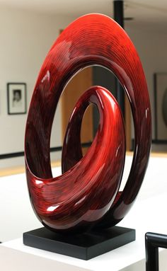 Daryl Stokes | 'Sunrise'  Lacquered Wood Sculpture - a lunch date at the nearest Fine Arts Museum on Valentine's Day?