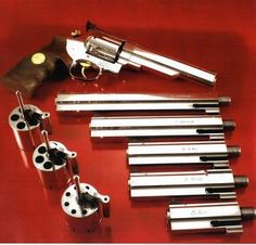 Quick change system revolver type S and EM-S Weapons Guns, Guns And Ammo, Lightsaber Parts, Hand Cannon, Fire Powers, Cool Guns, Firearms, Hand Guns, Revolvers