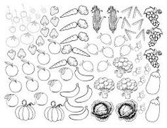 Vegetable Coloring Pages Fruits And Vegetables Sheet