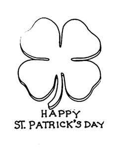Celebrating St Patricks Day With Four Leaf Clovers Coloring Page - Download & Print Online Coloring Pages for Free | Color Nimbus Owl Coloring Pages, Online Coloring Pages, Free Coloring, Coloring Sheets, Four Leaves, Clovers, Four Leaf Clover, St Patricks Day, Printables