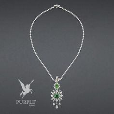 """Check this perfect addition to you style this white gold """"Plumetis Émeraude"""" necklace with diamonds emerald and tsavorite garnets by @dior #purplebyanki #diamonds #luxury #loveit #jewelry #jewelrygram #jewelrydesigner #love #jewelrydesign #finejewelry #luxurylifestyle #instagood #follow #instadaily #lovely #me #beautiful #loveofmylife #dubai #dubaifashion #dubailife #mydubai #PlumetisÉmeraude #Necklace #WhiteGold #Emerald #Garnets"""