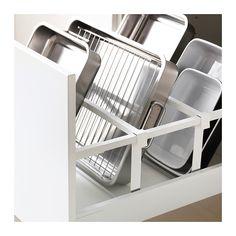 METOD / MAXIMERA Él ar p four/f com+tir/2 tir - blanc, 60x60x220 cm, Ringhult brillant gris - IKEA