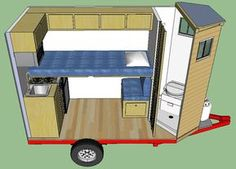 Off Grid Projects - Simple Solar Homesteading Cargo Trailer Camper Conversion, Camper Van Conversion Diy, Mini Cabins, Cabins And Cottages, Off Grid Trailers, Rv Shelter, Building A Teardrop Trailer, Popup Camper Remodel, Tiny Mobile House