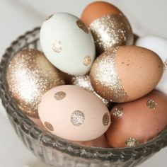 Decorate an Easter Egg: Glitter Eggs