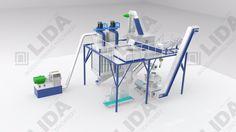 LIDA 2-3T/H biomass pellets machine line wood pellet production for sale