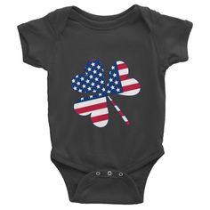 American Irish Clover Baby Onesie