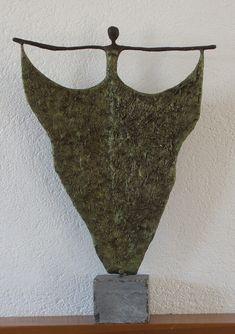 a dancer  made of powertex - stone art