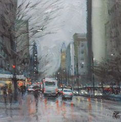 Mike Barr: A bunch of rain paintings