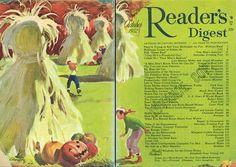 Halloween Crafts, Happy Halloween, Halloween Decorations, Readers Digest, Toot, Cover Art, Vintage Art, 1940s, Illustration