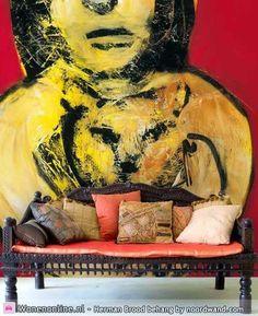 Herman Brood behang nu ook te koop bij van Gelder Verf & Wand. Kom eens kijken in onze winkel!