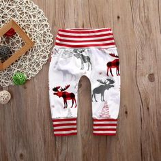 Red Striped Christmas Harem Pants from kidspetite.com!  Adorable & affordable baby, toddler & kids clothing. Shop from one of the best providers of children apparel at Kids Petite. FREE Worldwide Shipping to over 230+ countries ✈️  www.kidspetite.com  #baby #clothing #trousers #newborn #infant #pants #boy