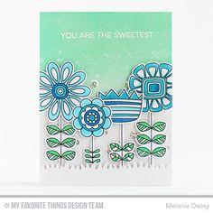 Doodled Blooms Card Kit, Grassy Fields Die-namics - Melania Deasy  #mftstamps