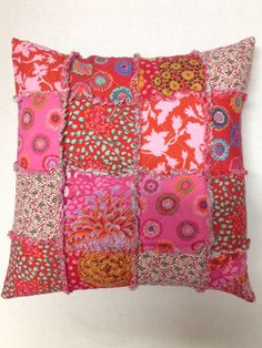 Raggy cushion 20 sq by rosiestar on Etsy, $58.00