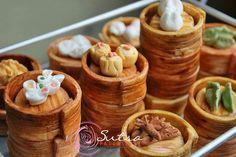 Miniature handmade sugar figurines - Yum Cha