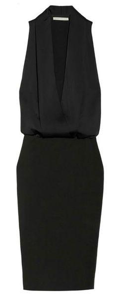 Victoria Beckham simple black dress
