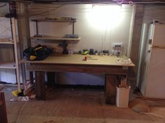 Work bench made from recycled materials