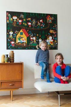Persbericht: Illustrator Caroline Ellerbeck presenteert muursprookjes