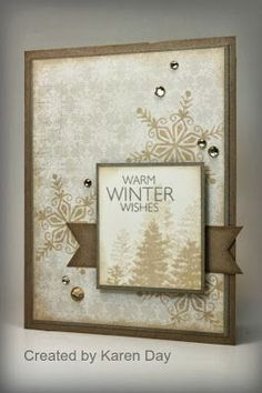 love the neutrals on Karen Day's card Karen's Creations