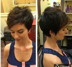 "How to style the Pixie cut? Despite what we think of short cuts , it is possible to play with his hair and to style his Pixie cut as he pleases. For a hairstyle with a ""so chic"" and pointed… Continue Reading → Cute Pixie Cuts, Pixie Cut Styles, Long Pixie Cuts, Short Pixie Haircuts, Cute Hairstyles For Short Hair, Short Hair Cuts, Curly Hair Styles, Easy Hairstyles, Hairstyle Ideas"