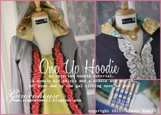 Upcycled hoodies - I did this and just lined the hood with fabric and it is AWESOME! Easy way to fancy up a cheap hoodie, and catch lots of compliments! Diy Clothing, Sewing Clothes, Clothes Crafts, Women's Clothes, Sewing Hacks, Sewing Tutorials, Sewing Projects, Sewing Ideas, Sewing Tips
