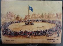 The Eureka Stockade and rebel uprising...