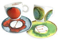 Illy Cups - Francesco Clemente I&E 2 Espresso Cups & Coffee Gift Set Coffee Gift Sets, Coffee Gifts, Commercial Interior Design, Commercial Interiors, Espresso Cups, Party Desserts, Home Gifts, Design Projects, Canvas Prints