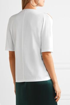 Dion Lee | Utility Contour cutout cotton T-shirt | NET-A-PORTER.COM
