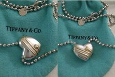 Tiffany & Co 18k Gold Heart and Arrow Necklace 1994