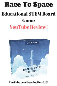YouTube review of Race To Space - the fun, educational STEM learning board game #racetospace #educationalgames #youtube