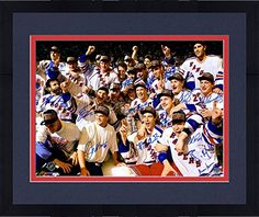 "Framed 1994 New York Rangers Autographed 16"" x 20"" Cup Celebration Photograph - Sports - Steiner Sports Certified -- You can find out more details at the link of the image."